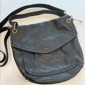 Vintage? Fossil Pebble Leather Crossbody Key bag
